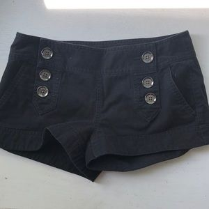 Express black shorts with silver buttons
